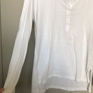 James Perse Tops - James Perse cotton long sleeved henley tee